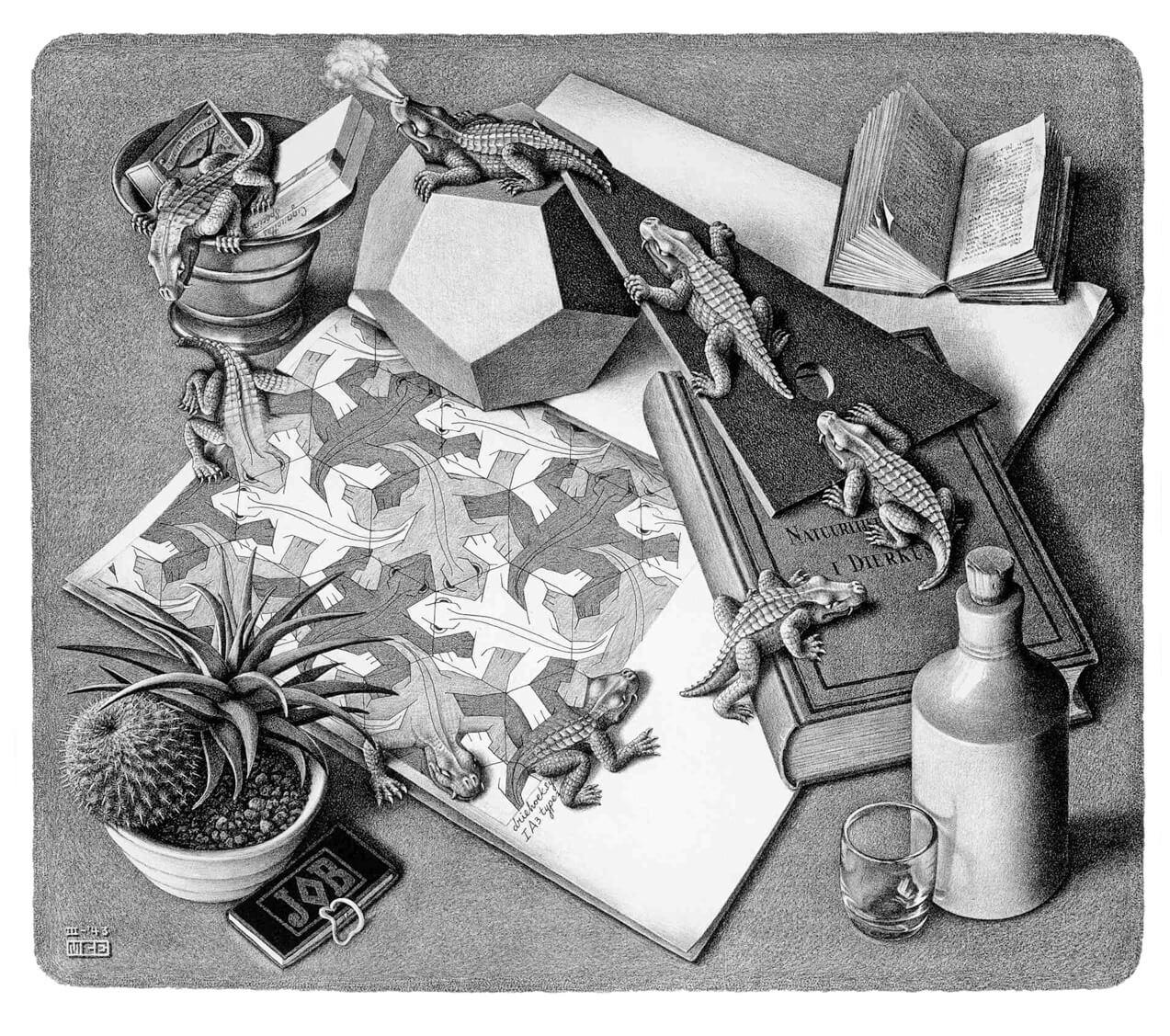 Escher Reptiles - 1943
